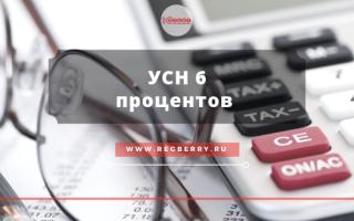 Упрощенная система налогообложения 6 процентов для ООО