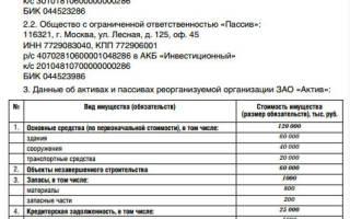 Бухгалтерская отчетность при реорганизации предприятий должников
