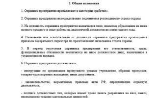 Обязанности охранника на КПП предприятия